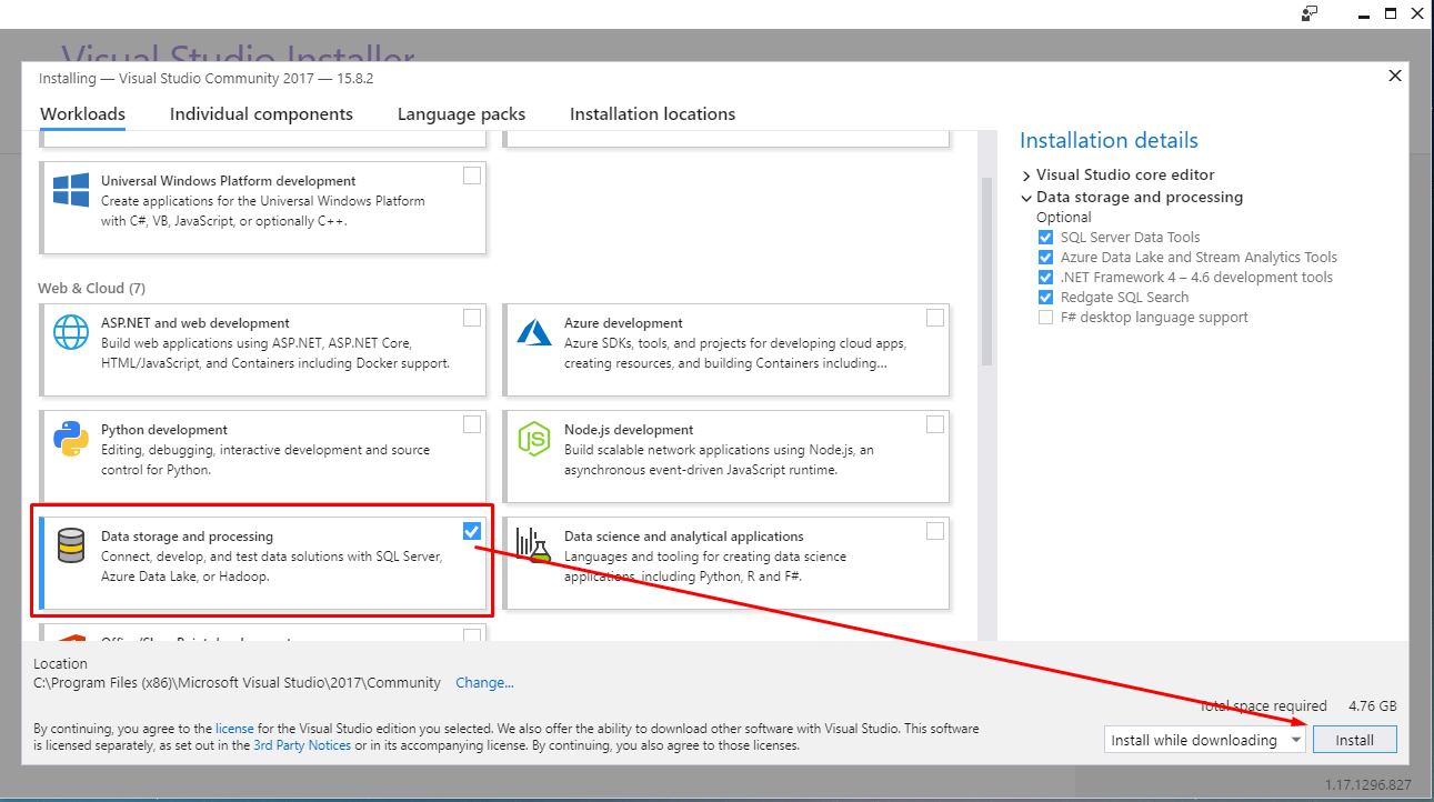 Installing Visual Studio 2017 and KingswaySoft – CRM, SSIS